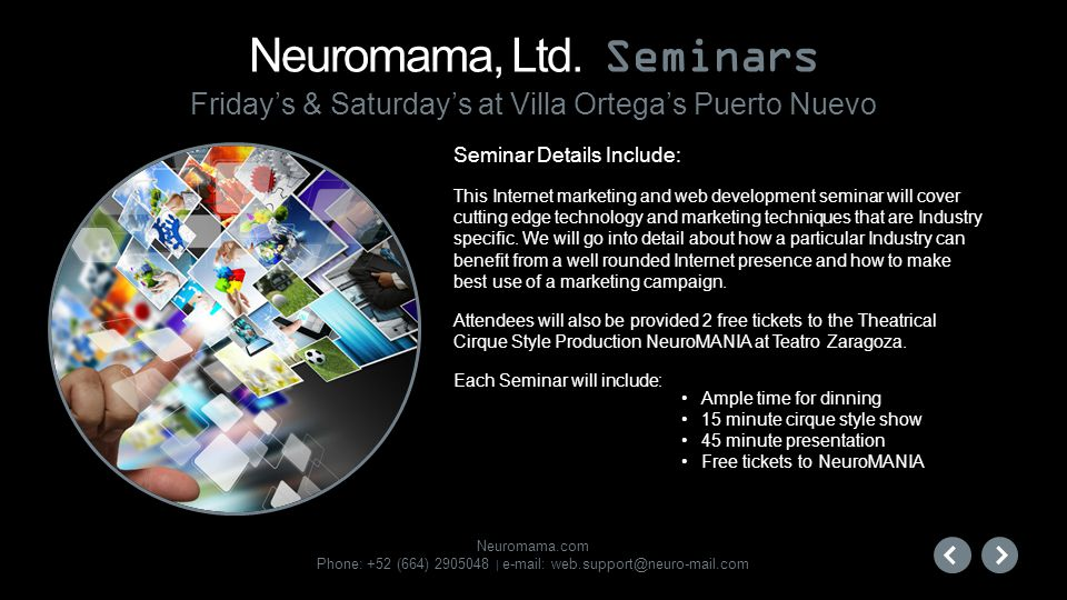 Neuromama, Ltd. Seminars