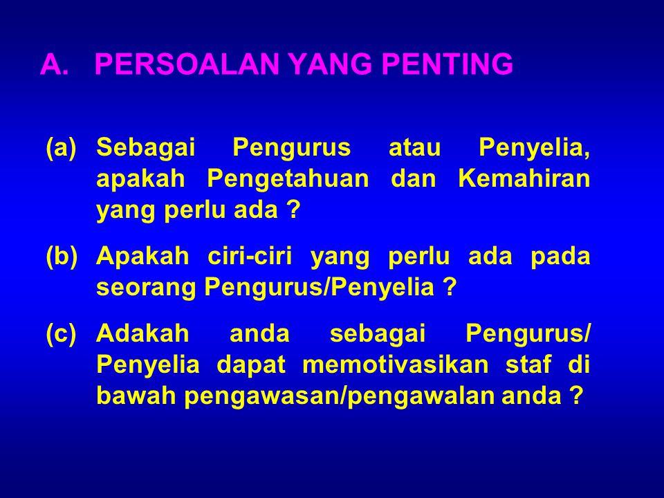 A. PERSOALAN YANG PENTING