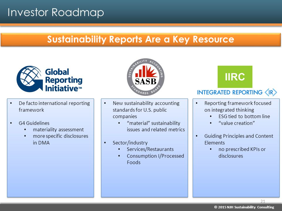 Sustainability Reports Are a Key Resource