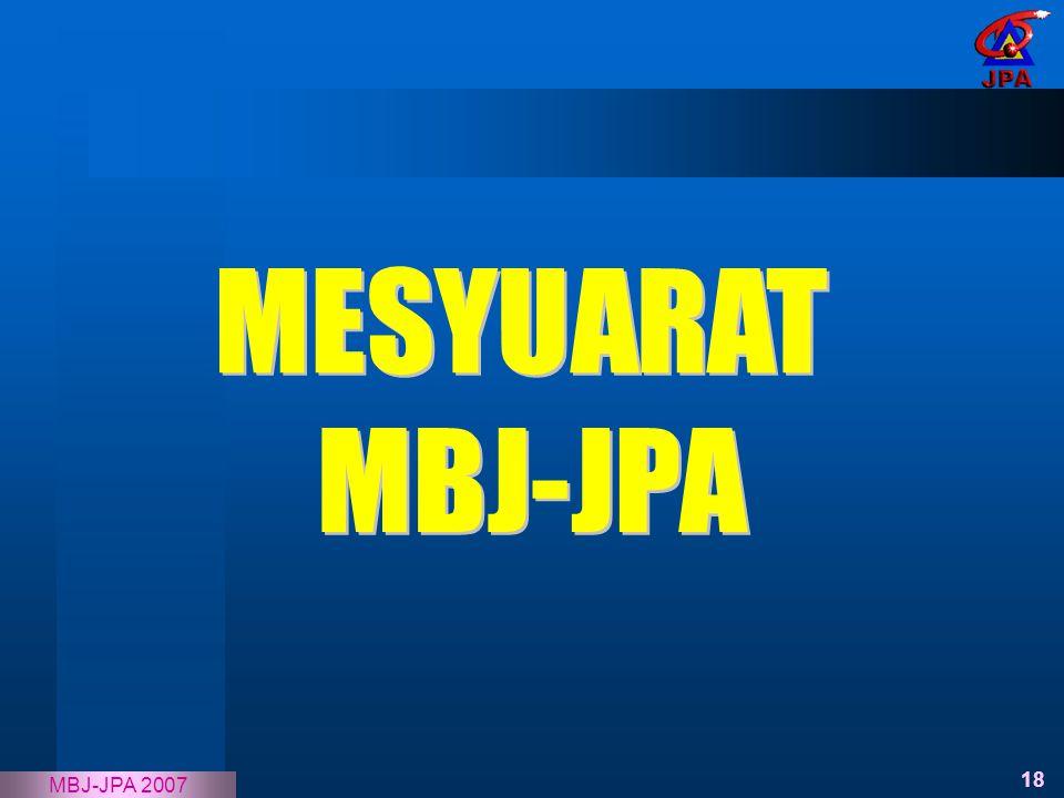 MESYUARAT MBJ-JPA