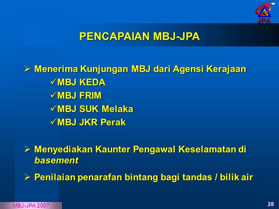 PENCAPAIAN MBJ-JPA Menerima Kunjungan MBJ dari Agensi Kerajaan