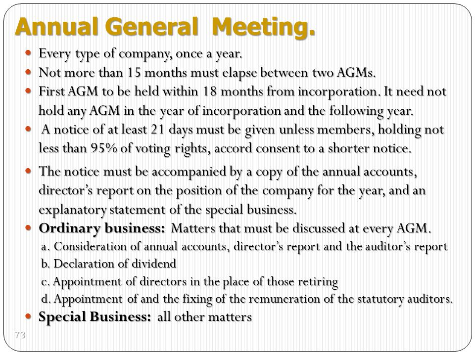 Annual General Meeting.