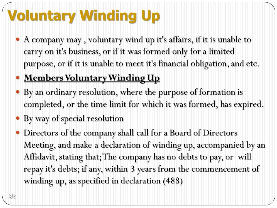 Voluntary Winding Up