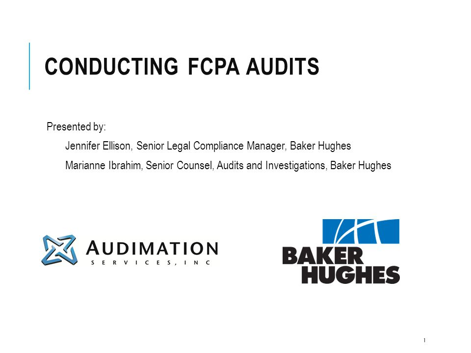 Conducting FCPA Audits
