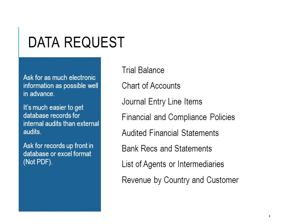 Data Request Trial Balance Chart of Accounts Journal Entry Line Items