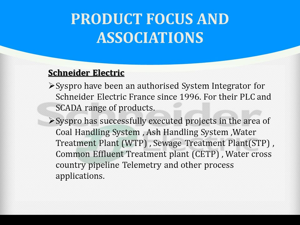 PRODUCT FOCUS AND ASSOCIATIONS