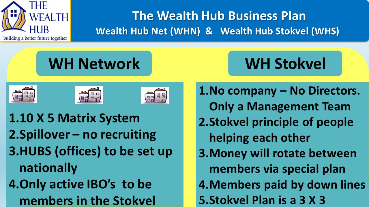 The Wealth Hub Business Plan WH Network WH Stokvel
