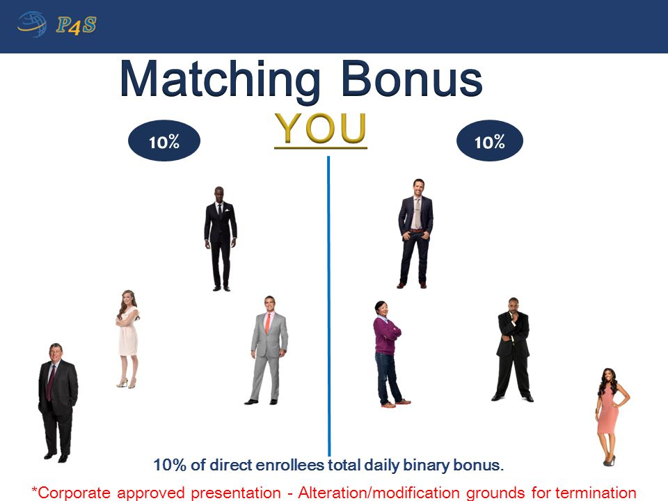 10% of direct enrollees total daily binary bonus.