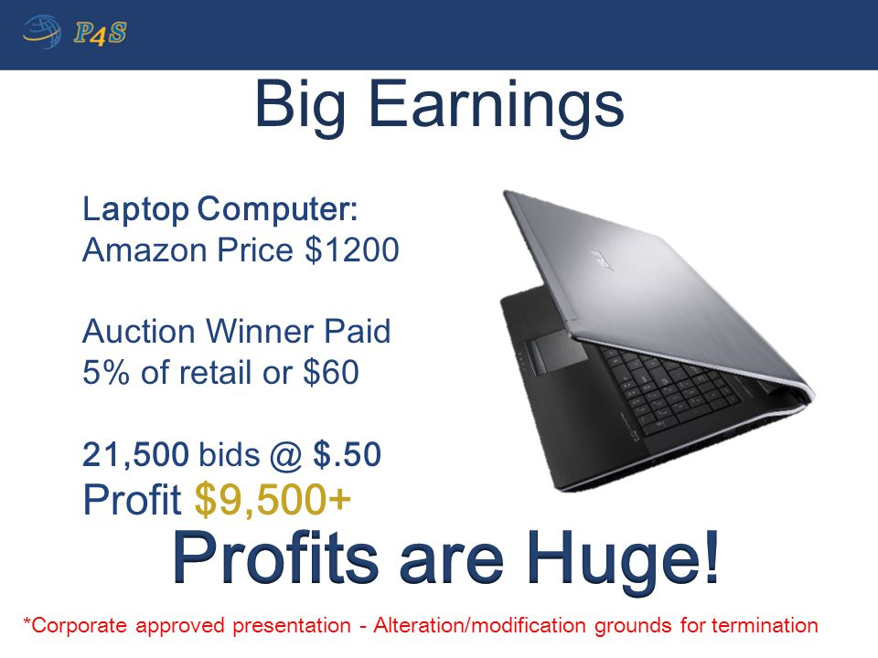 Profits are Huge! Big Earnings Profit $9,500+