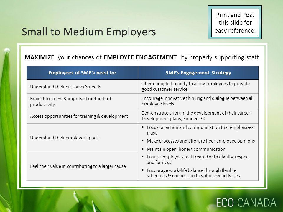 Small to Medium Employers