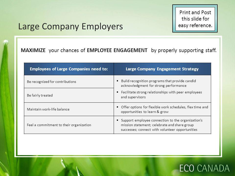 Large Company Employers