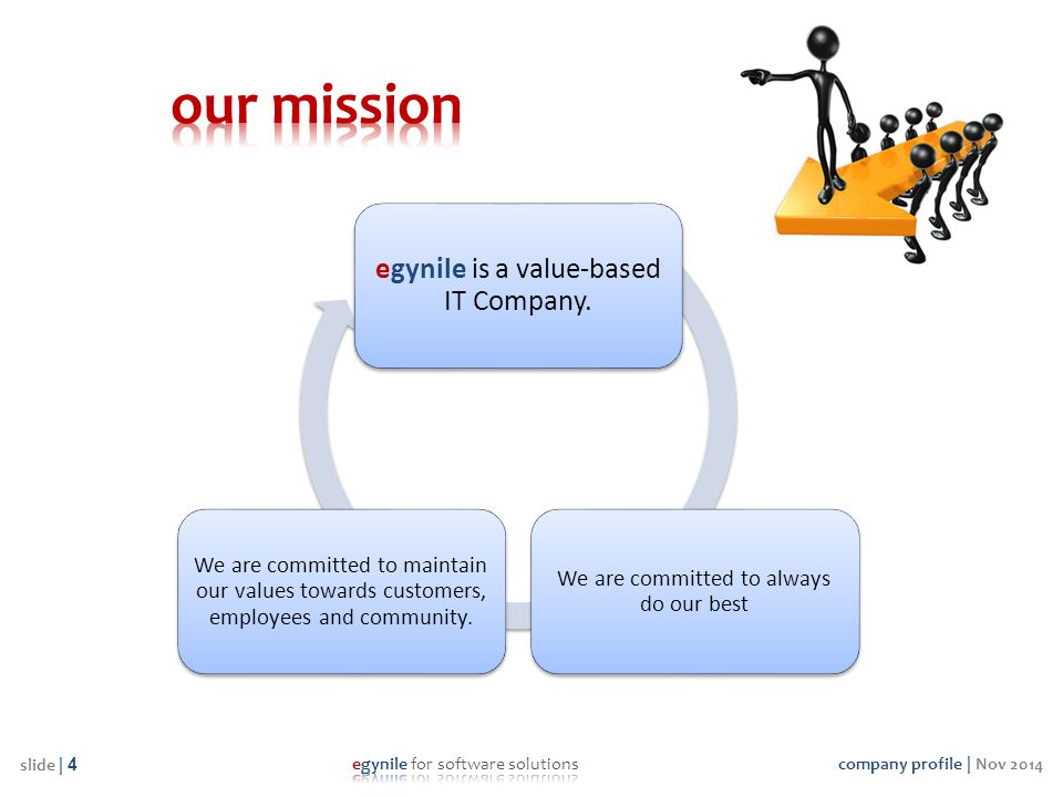our mission egynile is a value-based IT Company.