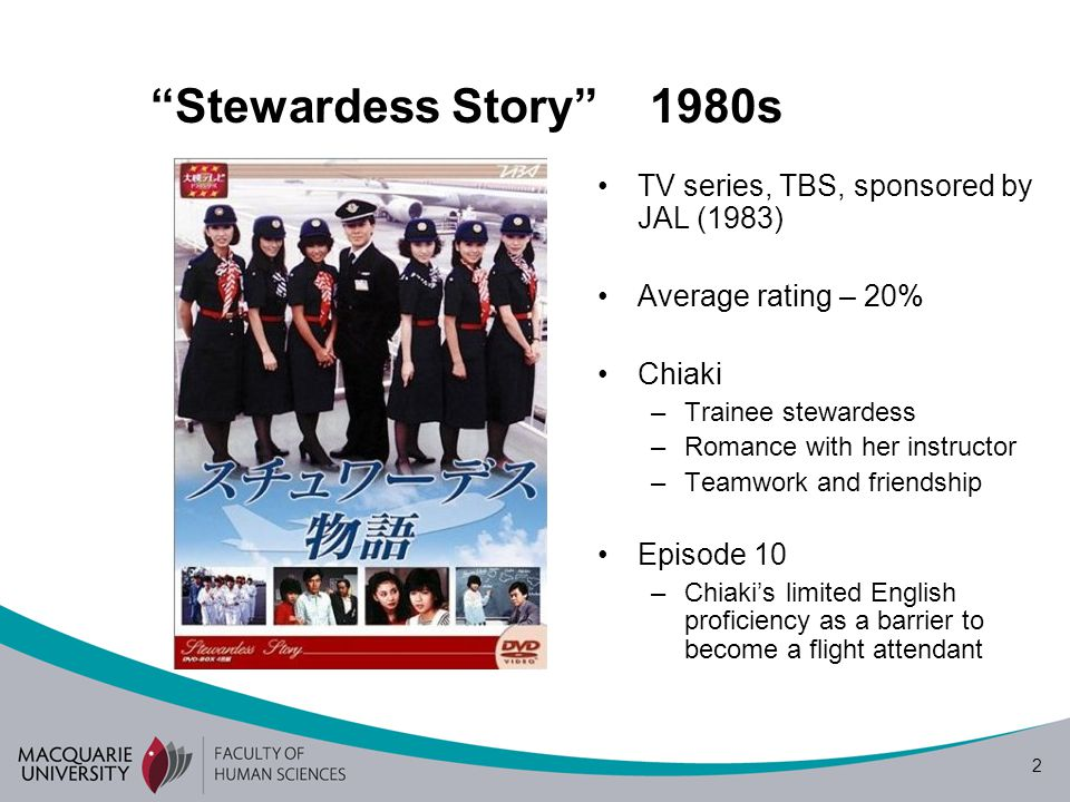 Stewardess Story 1980s TV series, TBS, sponsored by JAL (1983)