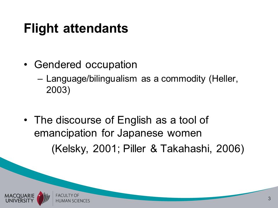 Flight attendants Gendered occupation