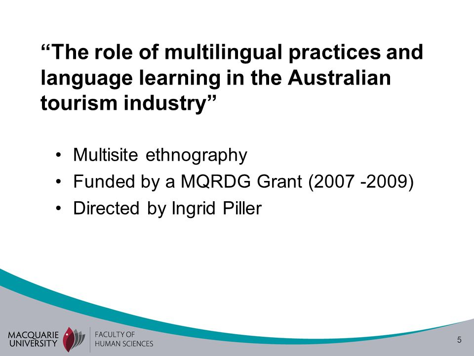 The role of multilingual practices and language learning in the Australian tourism industry