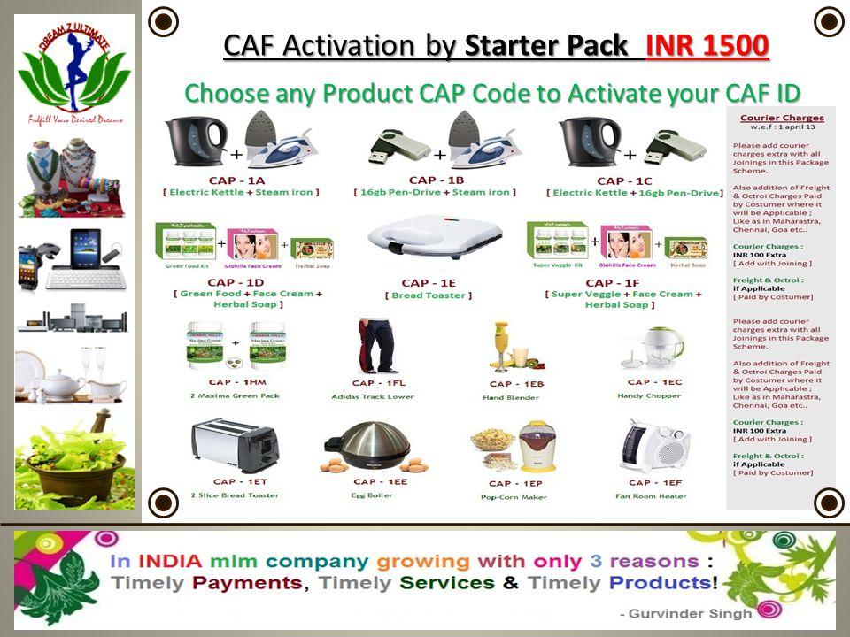 CAF Activation by Starter Pack INR 1500