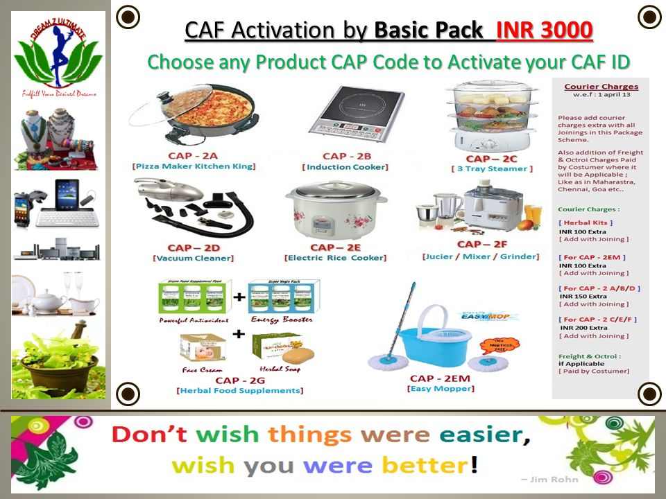 CAF Activation by Basic Pack INR 3000