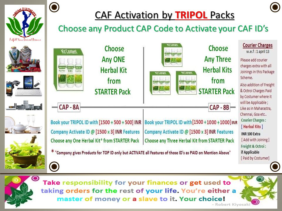 CAF Activation by TRIPOL Packs