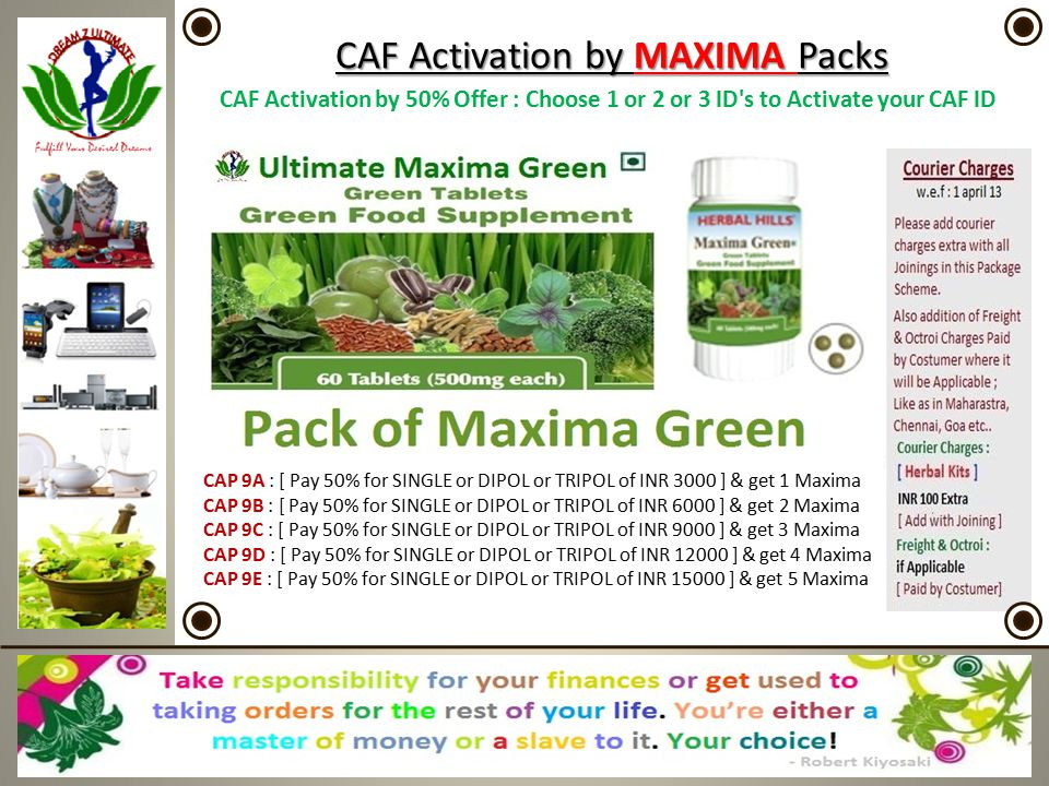 CAF Activation by MAXIMA Packs