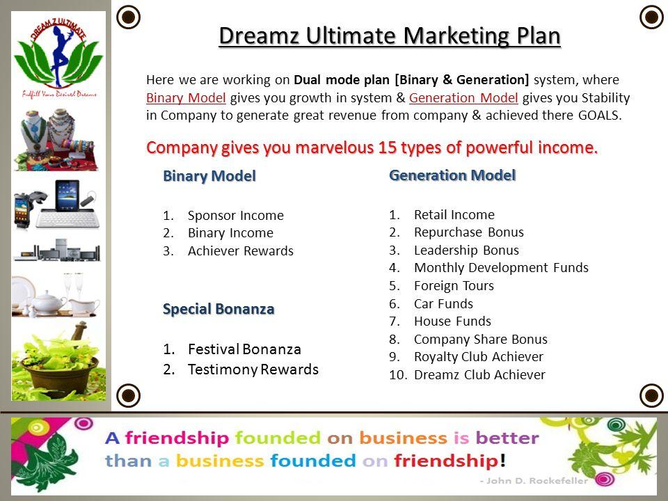 Dreamz Ultimate Marketing Plan