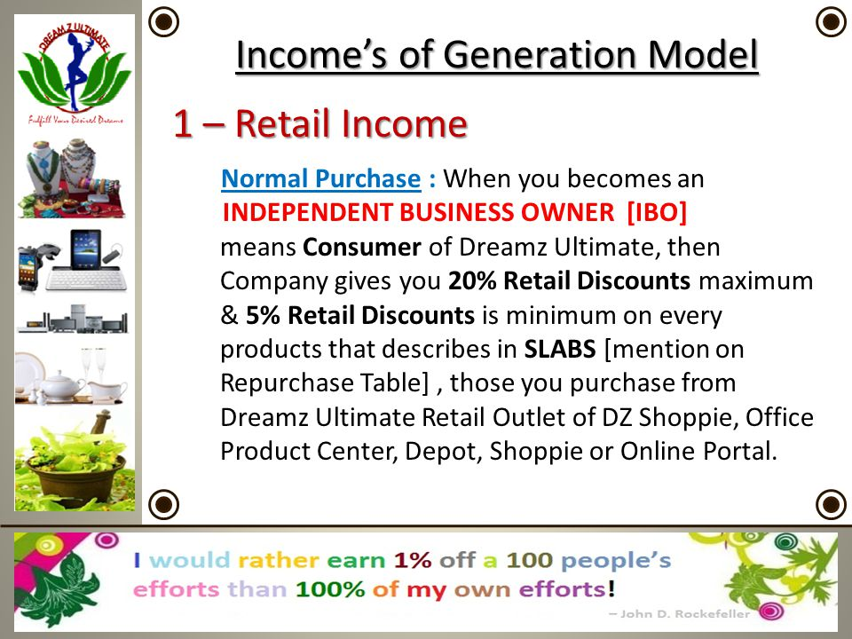Income's of Generation Model