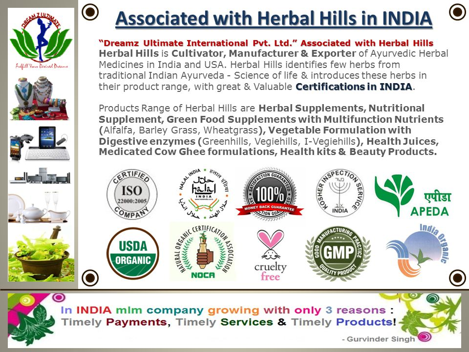 Associated with Herbal Hills in INDIA