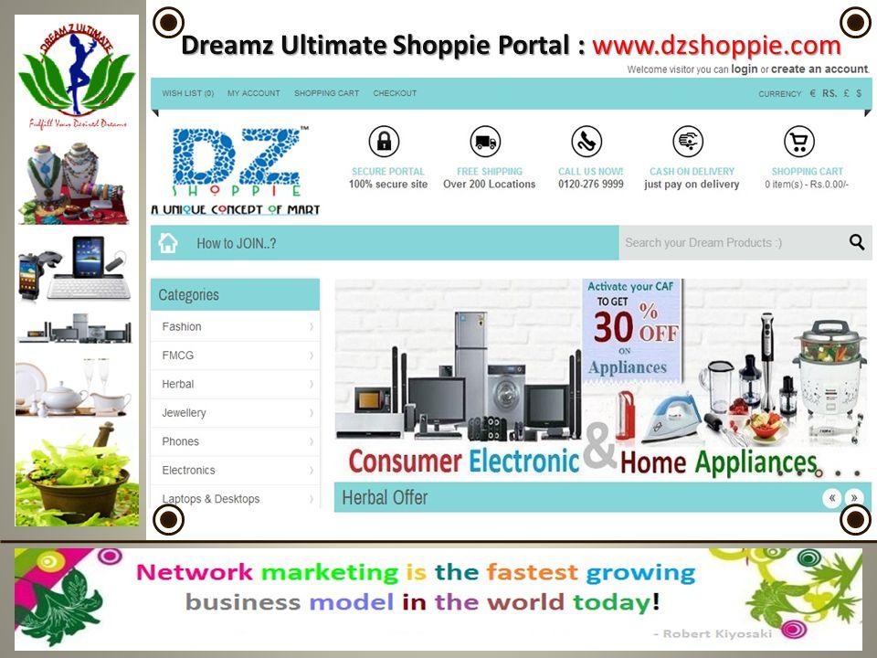 Dreamz Ultimate Shoppie Portal : www.dzshoppie.com