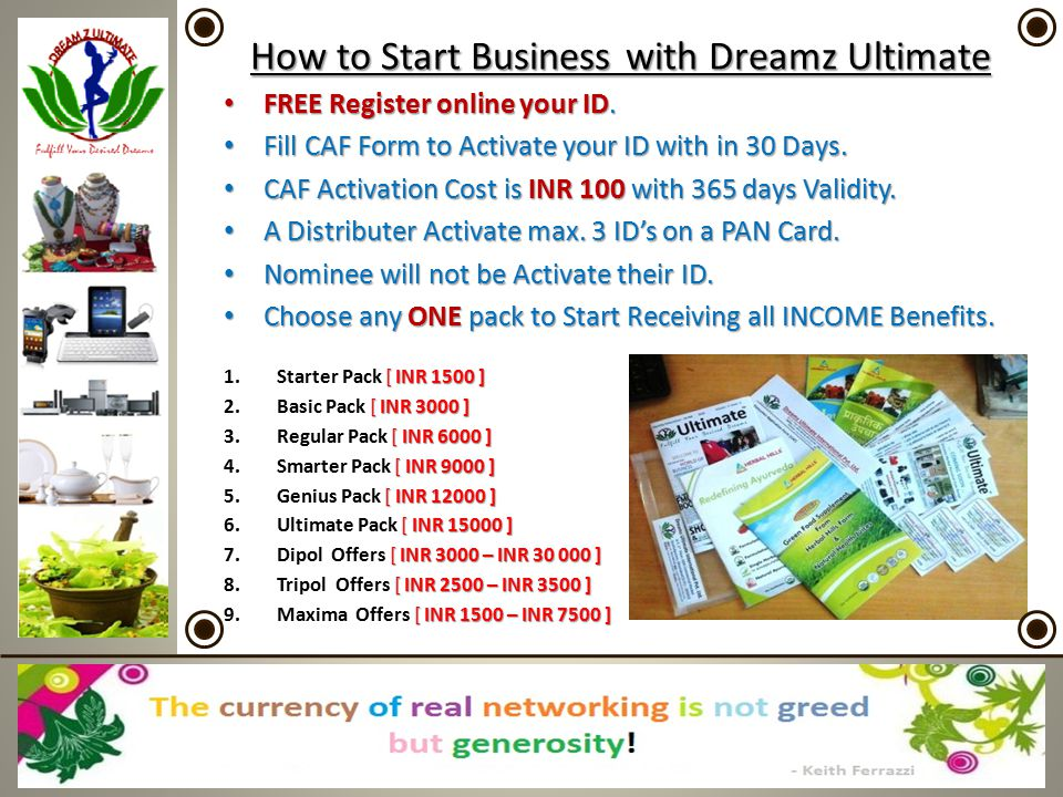 How to Start Business with Dreamz Ultimate