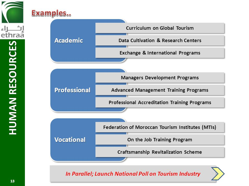 HUMAN RESOURCES Examples.. Academic Professional Vocational