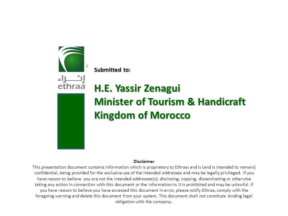Minister of Tourism & Handicraft Kingdom of Morocco