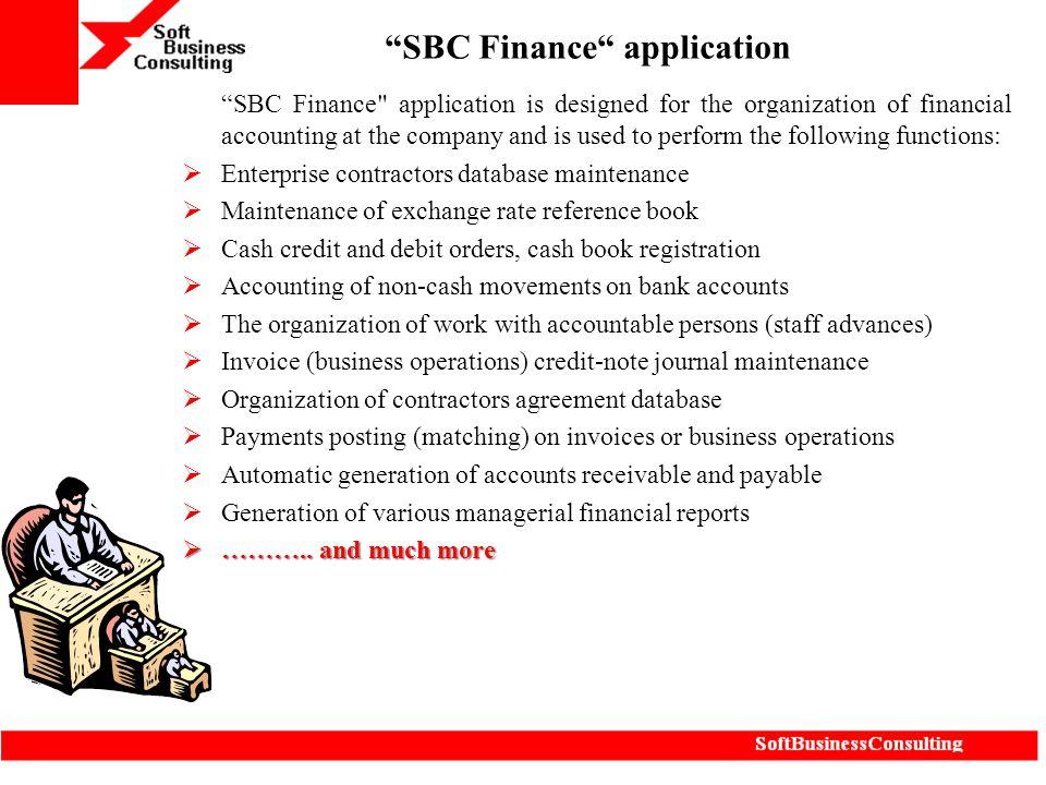 SBC Finance application
