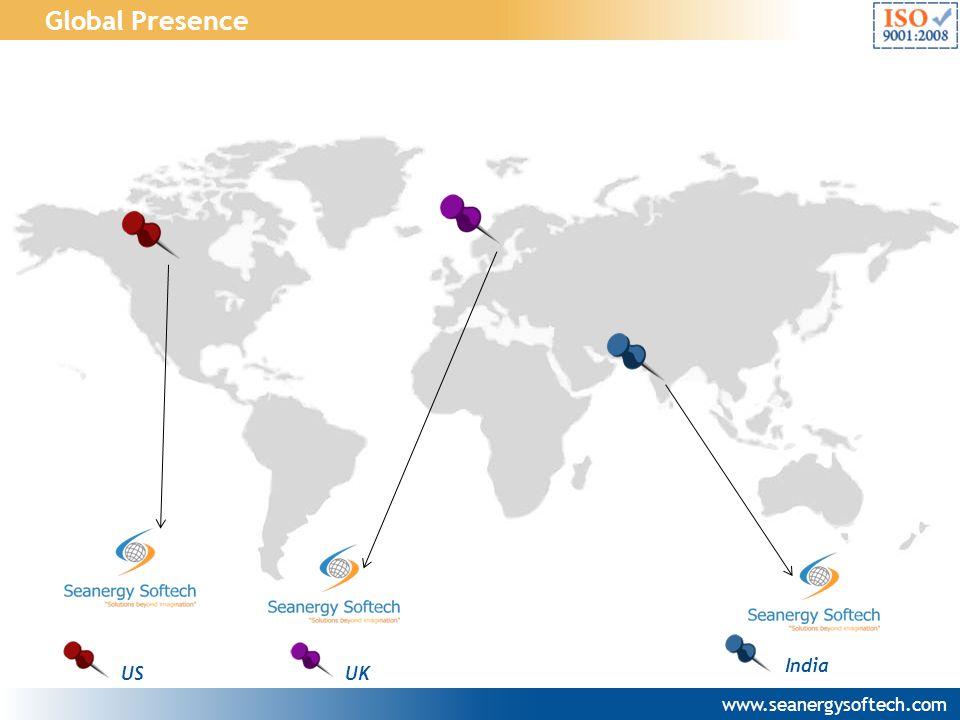 Global Presence India US UK www.seanergysoftech.com