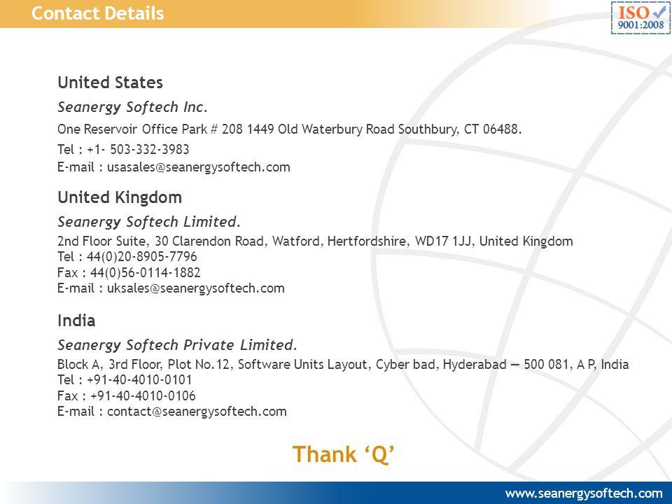 Thank 'Q' Contact Details United States United Kingdom India