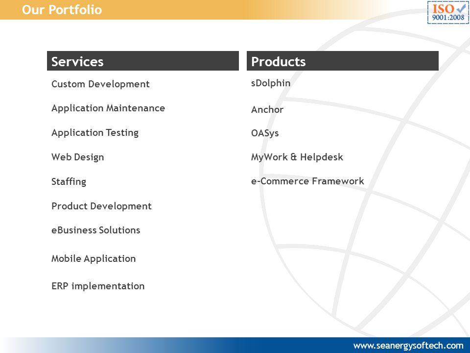 Our Portfolio Services Products Web Design Application Maintenance