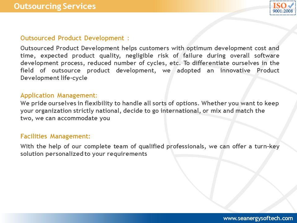 Outsourcing Services Outsourced Product Development :