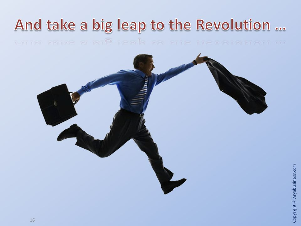 And take a big leap to the Revolution …