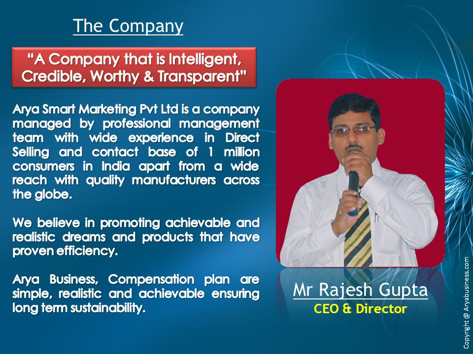 A Company that is Intelligent, Credible, Worthy & Transparent