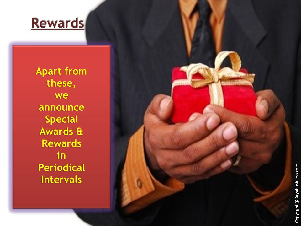 Rewards Apart from these, we announce Special Awards & Rewards in
