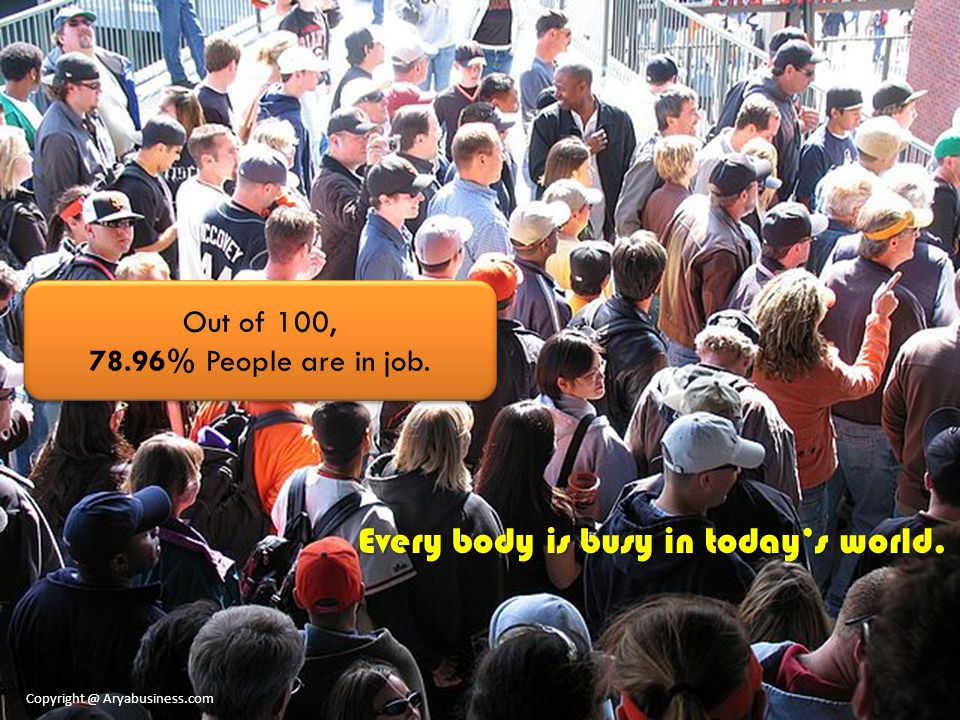 Every body is busy in today's world.