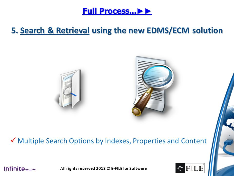 5. Search & Retrieval using the new EDMS/ECM solution