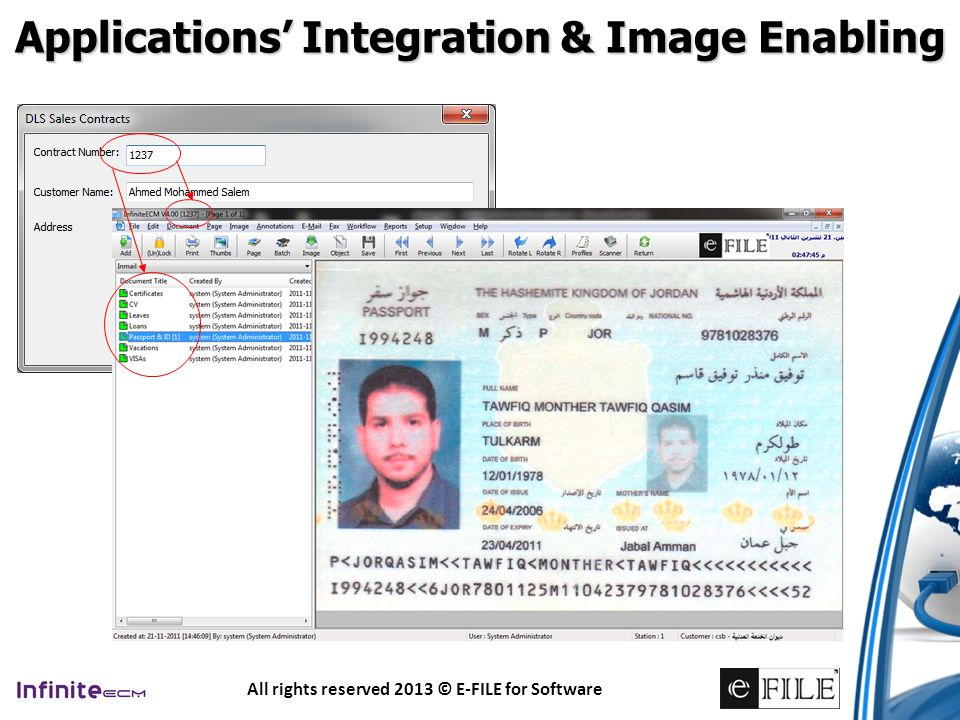 Applications' Integration & Image Enabling