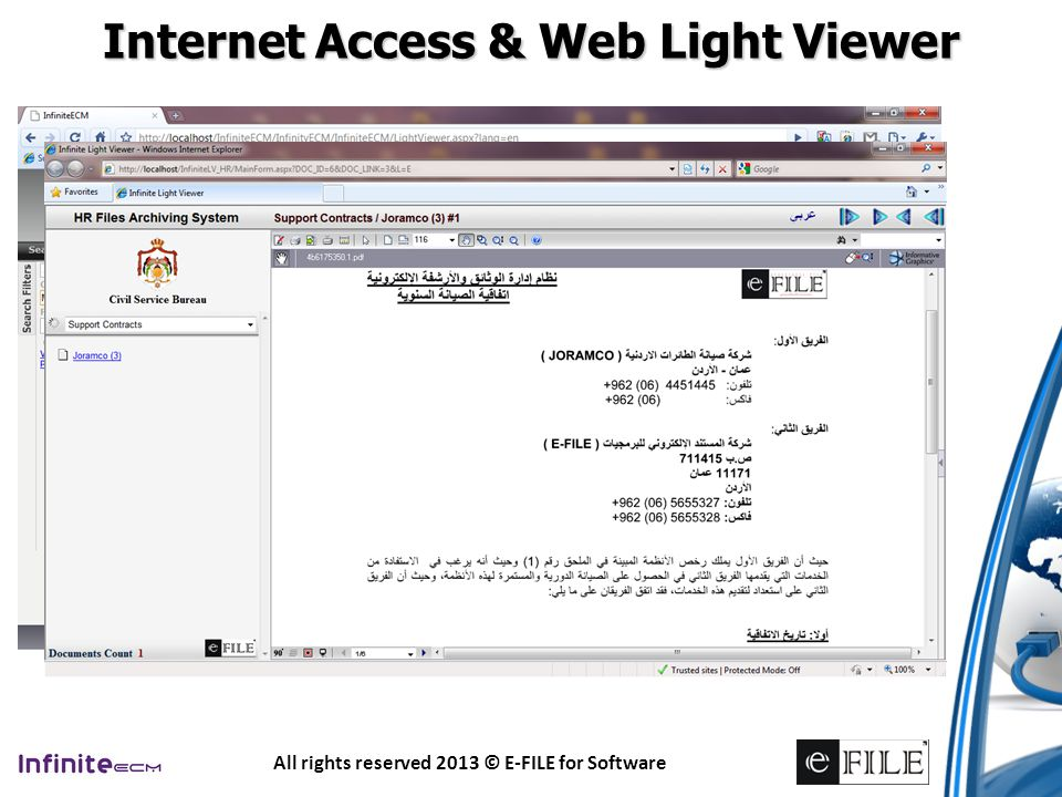 Internet Access & Web Light Viewer