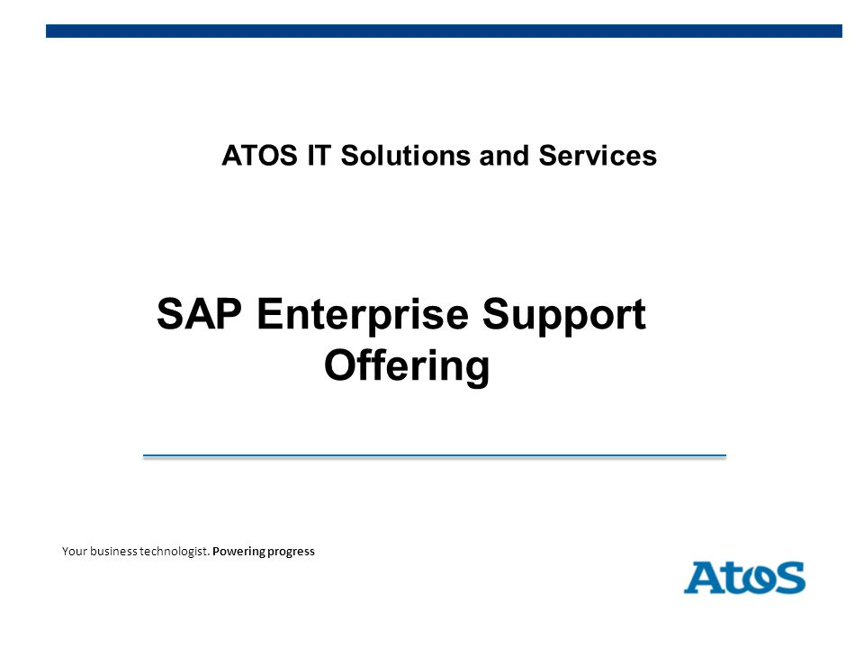 ATOS IT Solutions and Services SAP Enterprise Support