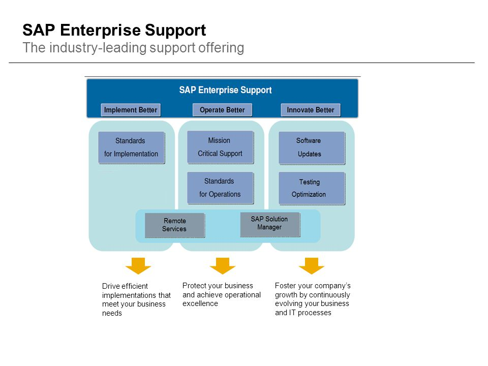 SAP Enterprise Support The industry-leading support offering