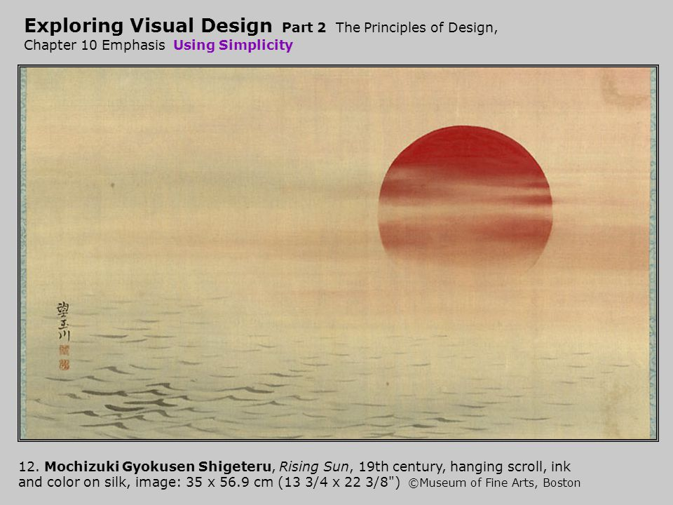 Exploring Visual Design Part 2 The Principles of Design, Chapter 10 Emphasis Using Simplicity