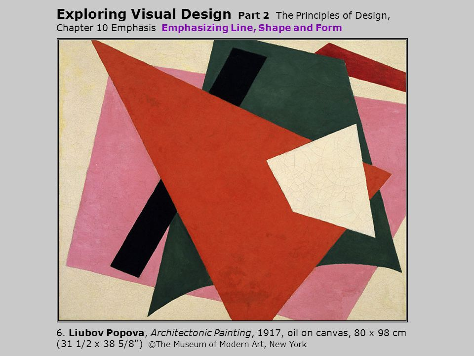 Exploring Visual Design Part 2 The Principles of Design, Chapter 10 Emphasis Emphasizing Line, Shape and Form