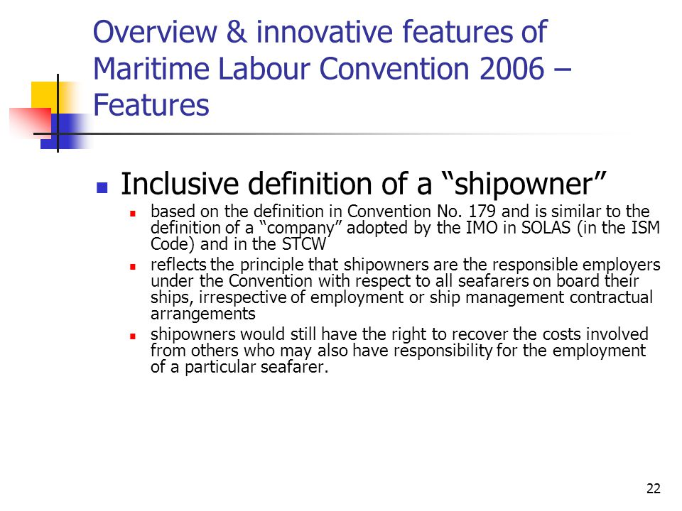 Inclusive definition of a shipowner