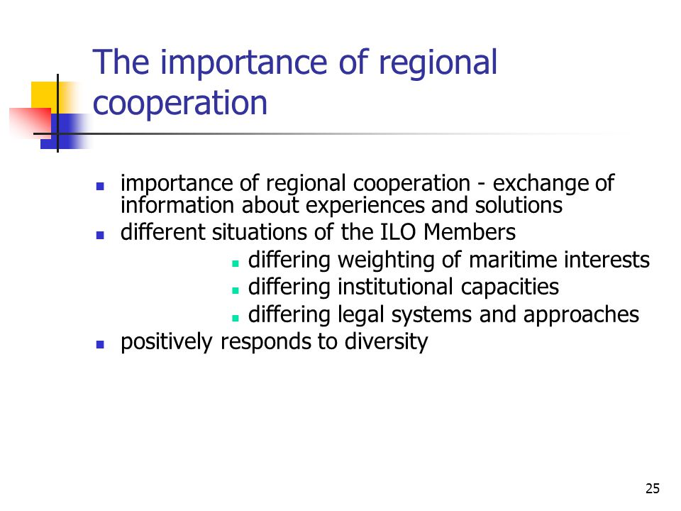 The importance of regional cooperation