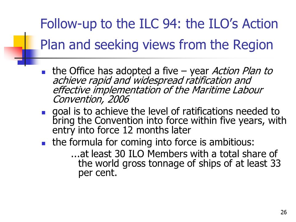 Follow-up to the ILC 94: the ILO's Action Plan and seeking views from the Region