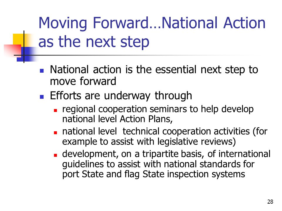 Moving Forward…National Action as the next step